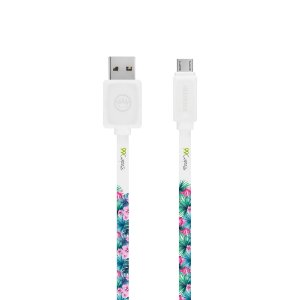 Cabo Micro USB Branco Personalizado - Tropical
