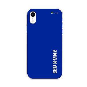 Capa Azul Royal com nome personalizado - 99Capas