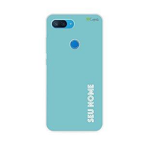 Capa Azul com nome personalizado - 99Capas