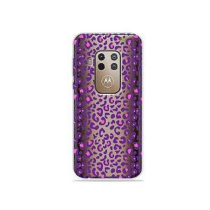 Capa para Moto One Zoom - Animal Print Purple
