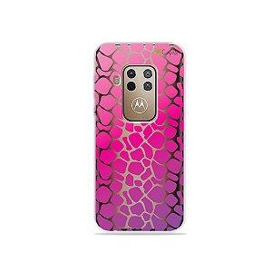 Capa para Moto One Zoom - Animal Print Pink