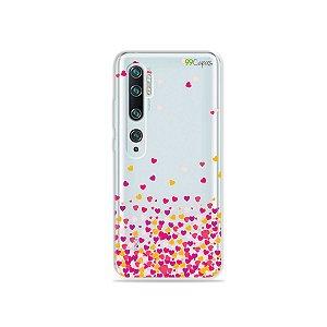 Capa para Xiaomi Mi Note 10 - Corações Rosa