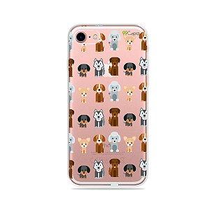 Capa para iPhone 7 - Doguinhos