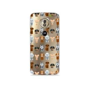 Capa para Moto G6 Play - Doguinhos