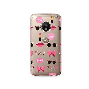Capa (transparente) para Moto G5 Plus - Girls