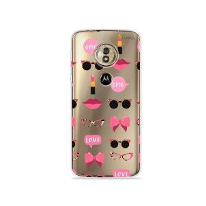 Capa (transparente) para Moto G6 Play - Girls