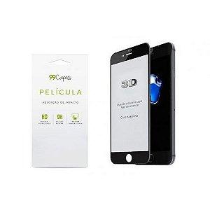 Película de Vidro 3D (borda preta) para iPhone 8 Plus - 99Capas