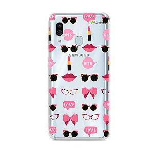 Capa (transparente) para Galaxy A30 - Girls