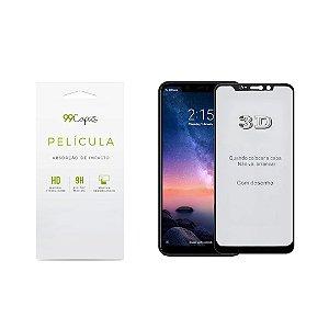 Película de Vidro 3D (borda preta) para Xiaomi Redmi Note 6 Pro - 99Capas