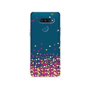 Capa para LG K50s - Corações Rosa