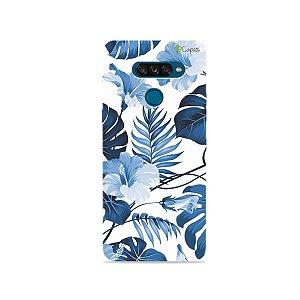 Capa para LG K50s - Flowers in Blue