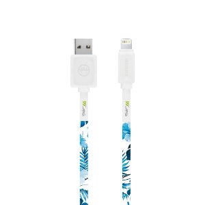 Cabo Lightning Branco Personalizado - Flowers in Blue