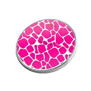 Carregador Wireless sem fio - Animal Print Pink