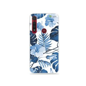 Capa para Moto G8 Play - Flowers in Blue