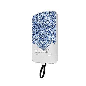 99Snap Powerbank - Micro USB V8 ( Carregador portátil para celular) Mandala Azul
