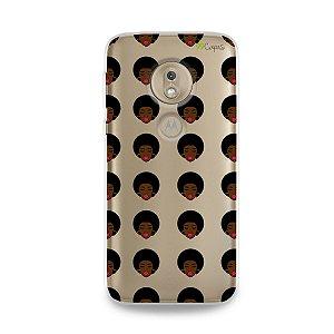 Capinha (transparente) para Moto G7 Play - Black Girl