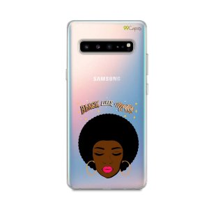 Capinha (transparente) para Galaxy S10 - Black Lives