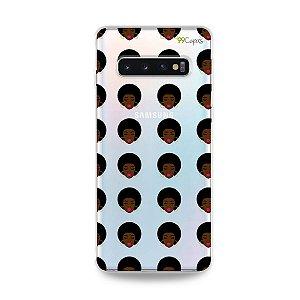 Capinha (transparente) para Galaxy S10 Plus - Black Girl