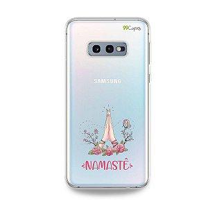 Capinha (transparente) para Galaxy S10e - Namastê