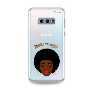 Capinha (transparente) para Galaxy S10e - Black Lives