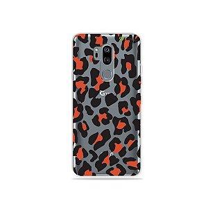 Capinha (transparente) para LG G7 ThinQ - Animal Print Red