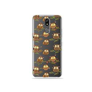 Capinha (transparente) para LG K12 Plus - Corujinhas