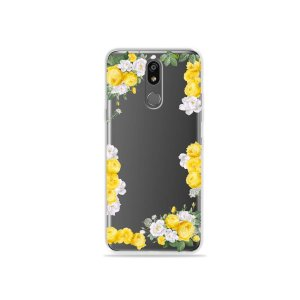 Capinha (transparente) para LG K12 Plus - Yellow Roses