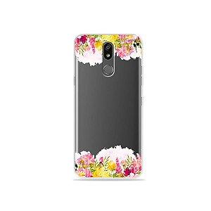 Capinha (transparente) para LG K12 Plus - Botânica