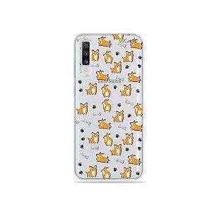 Capinha (transparente) para Galaxy A70s - Cãozinho