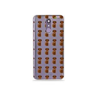 Capinha (transparente) para LG Q7 - Golden