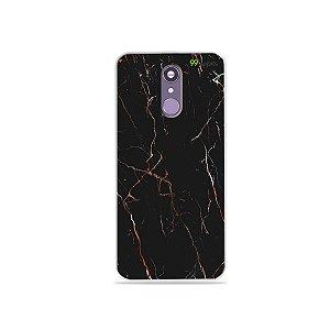 Capinha para LG Q7 - Marble Black