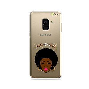 Capinha (transparente) para Galaxy A8 - Black Lives