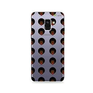 Capinha (transparente) para Galaxy A8 Plus - Black Girl