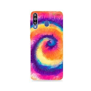 Capinha para Galaxy M30 - Tie Dye Roxo