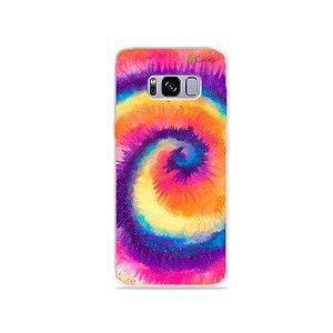 Capinha para Galaxy S8 - Tie Dye Roxo