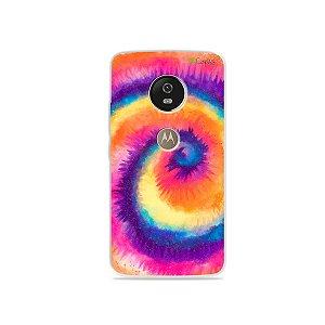 Capa para Moto G5 - Tie Dye Roxo