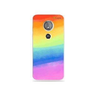 Capa para Moto E5 - Rainbow