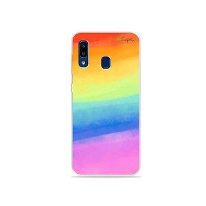 Capinha para Galaxy A20 - Rainbow
