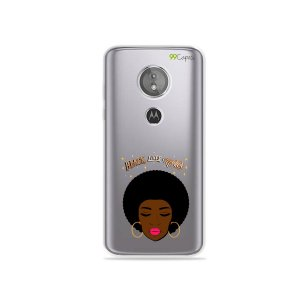 Capa para Moto E5 - Black Lives