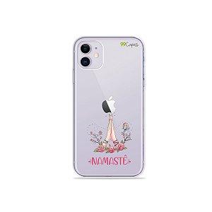 Capinha (transparente) para iPhone 11 - Namastê