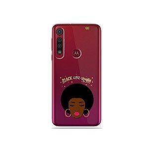 Capinha (transparente) para Moto G8 Play - Black Lives
