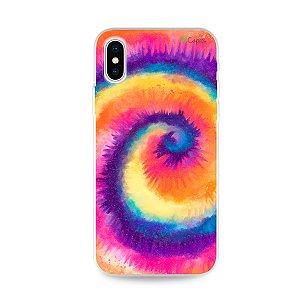 Capinha para iPhone X/XS - Tie Dye Roxo