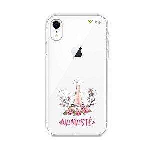 Capinha (transparente) para iPhone XR - Namastê