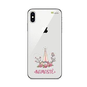 Capinha (transparente) para iPhone XS Max - Namastê