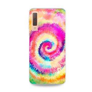 Capinha para Galaxy A7 2018  - Tie Dye