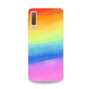 Capinha para Galaxy A7 2018  - Rainbow