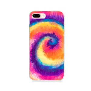 Capa para iPhone 8 Plus - Tie Dye Roxo