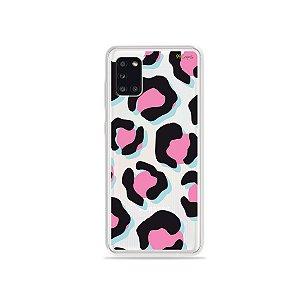 Capinha Animal Print Black & Pink para Galaxy A31