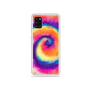 Capinha Tie Dye Roxo para Galaxy A31