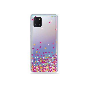 Capinha Corações Rosa para Galaxy Note 10 Lite